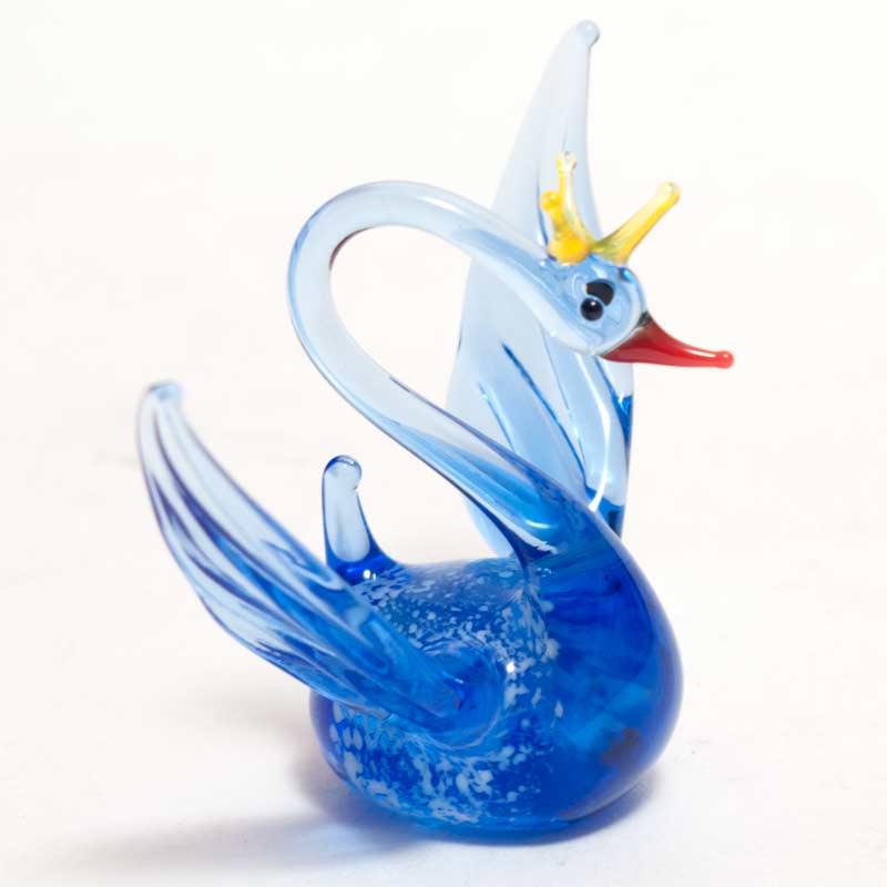 Glass Swan Figure
