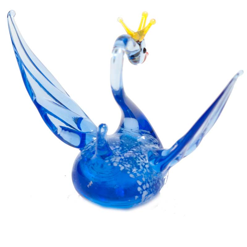 Glass Black Princess Swan