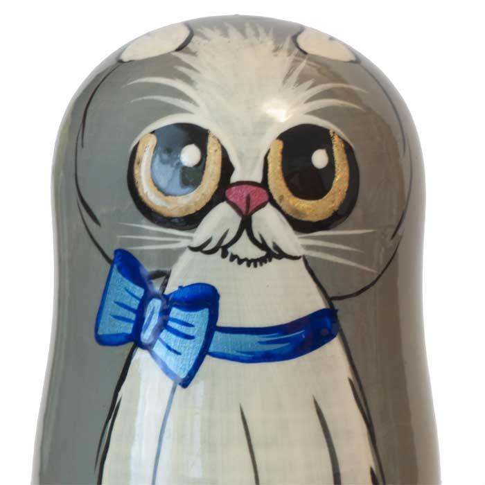 Nesting Dolls Blue Cat