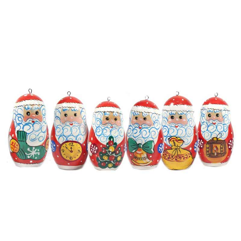 Christmas Ornaments Russian Santa