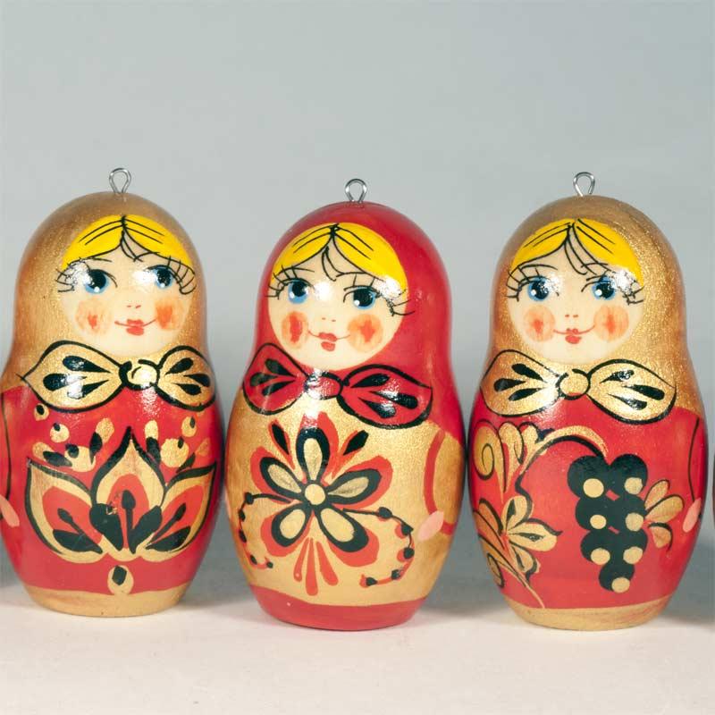 Khohloma Style Ornaments