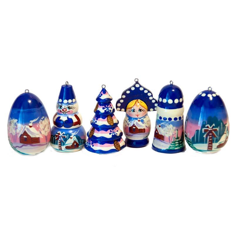 Christmas Motives Ornaments Set