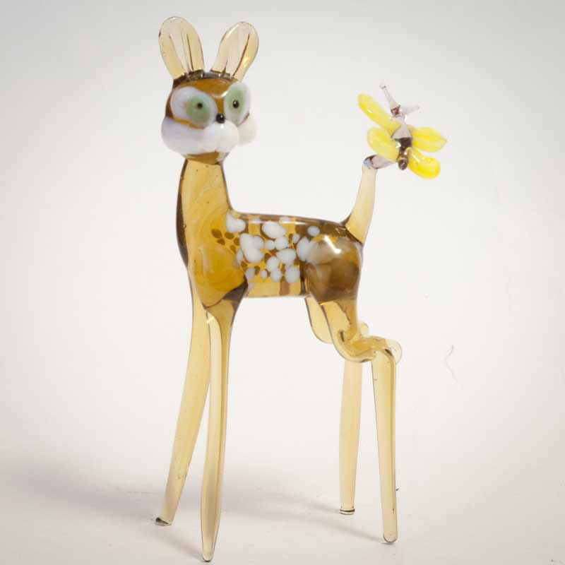 Glass Bambi Figurine