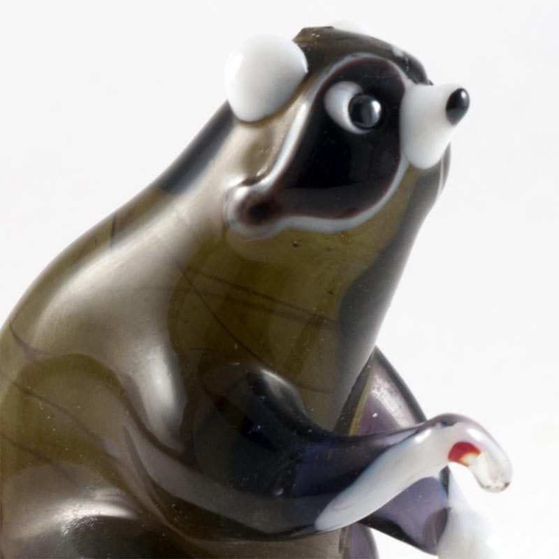 Raccoon Glass Figurine