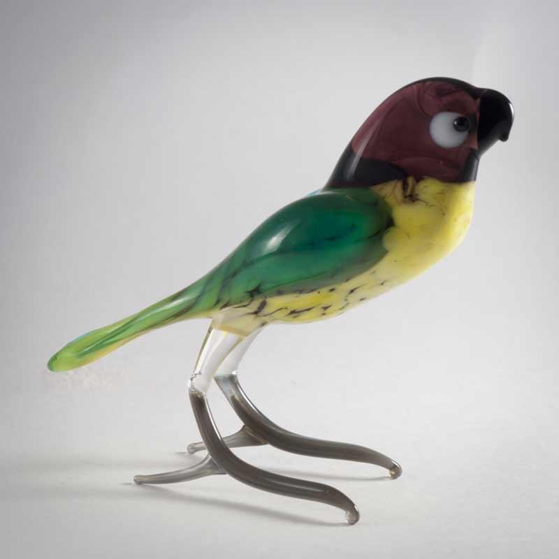 Glass Bird Figurine
