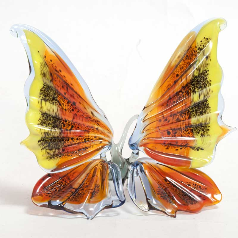 Glass Butterfly Figurine  Blue