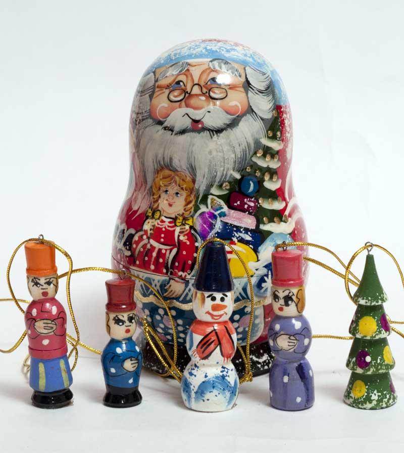 Santa Ornament Set