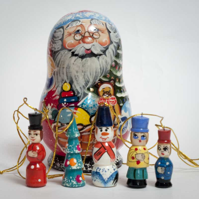 santa ornaments christmas set fig