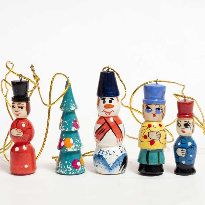 Santa Ornaments Christmas Set Doll