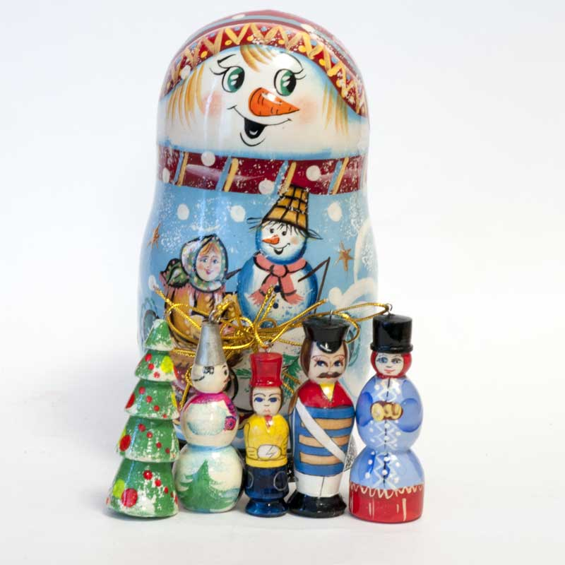 Snowman Ornaments Set