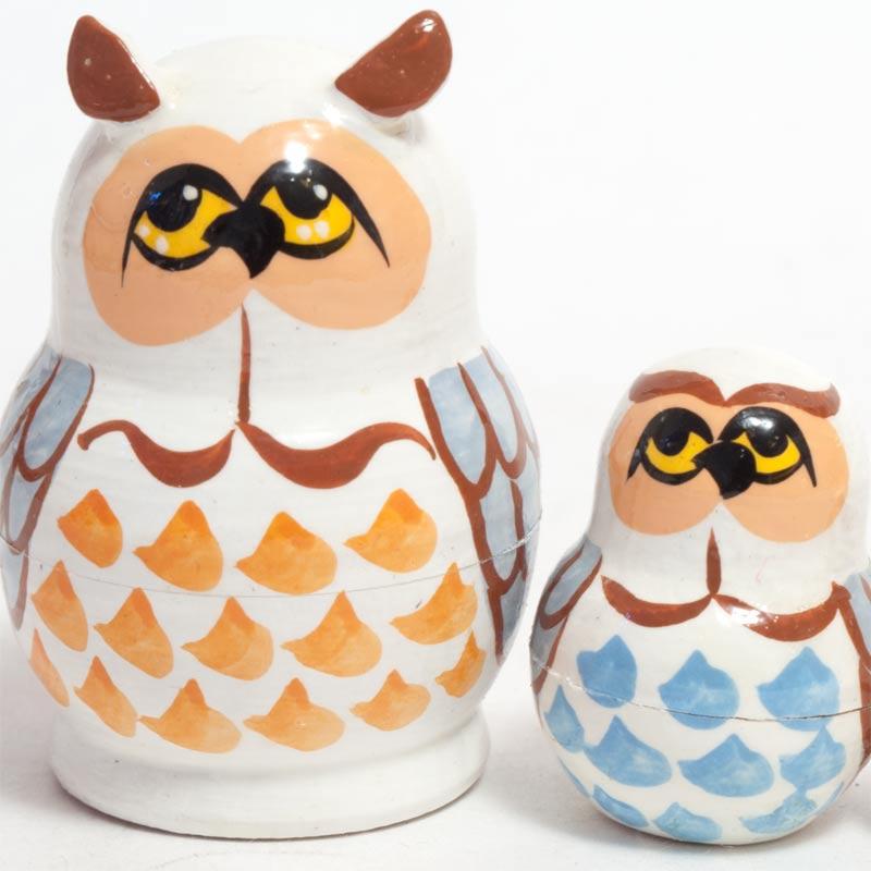 Matryoshka White Owls