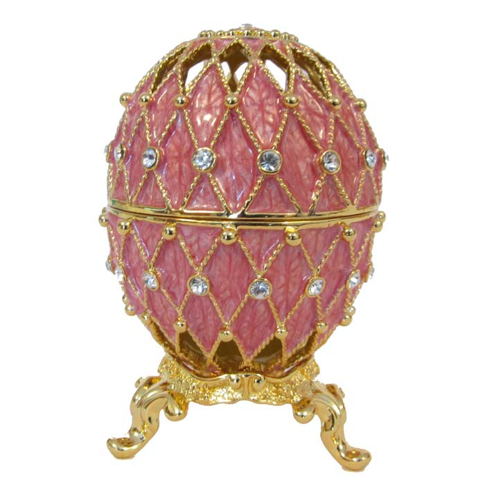 Faberge Syle Jewelry Faberge Egg Openwork Pink Russian