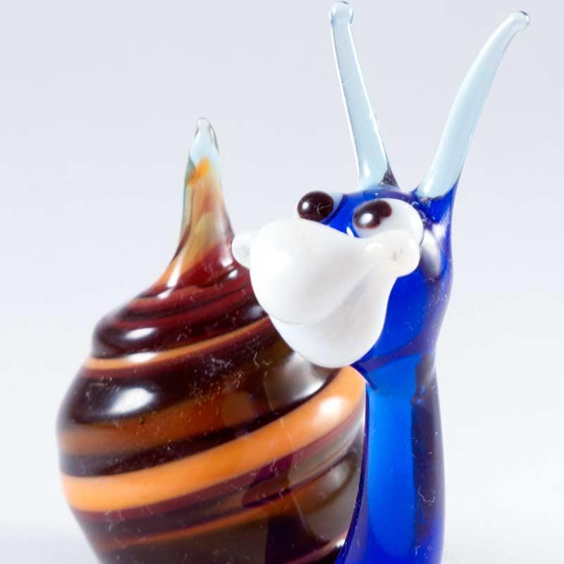 Snail glass figurine