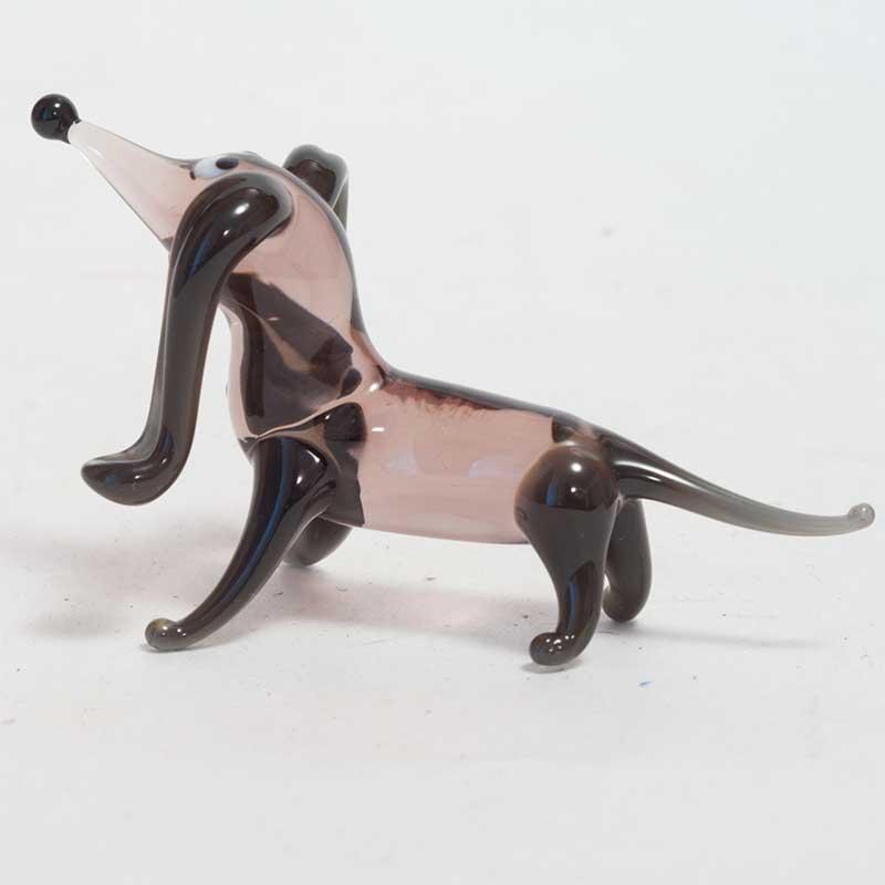 Dog glass figurine