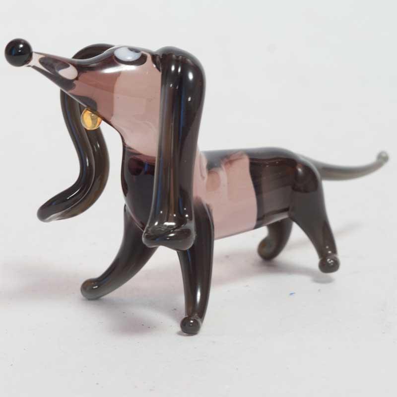 Glass Dachshund Figurine