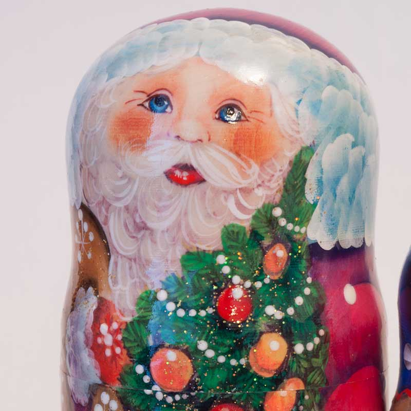 Matryoshka Santa and Kids