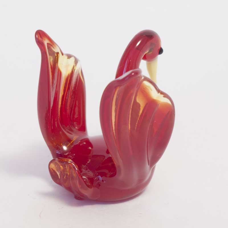 Glass Black Princess Swan
