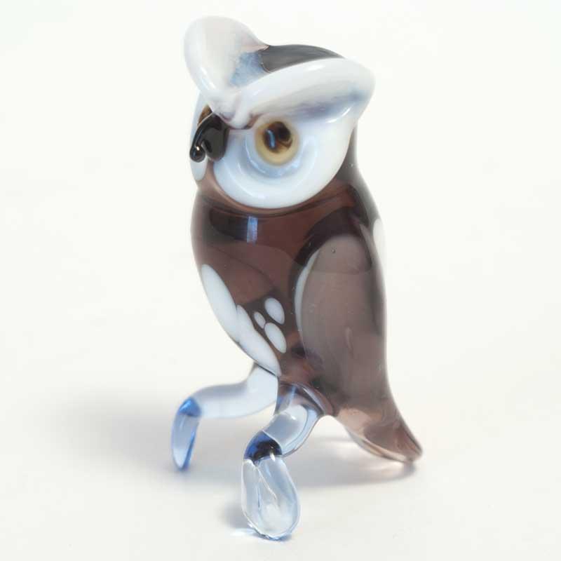 Glass Eagle Owl Figurine