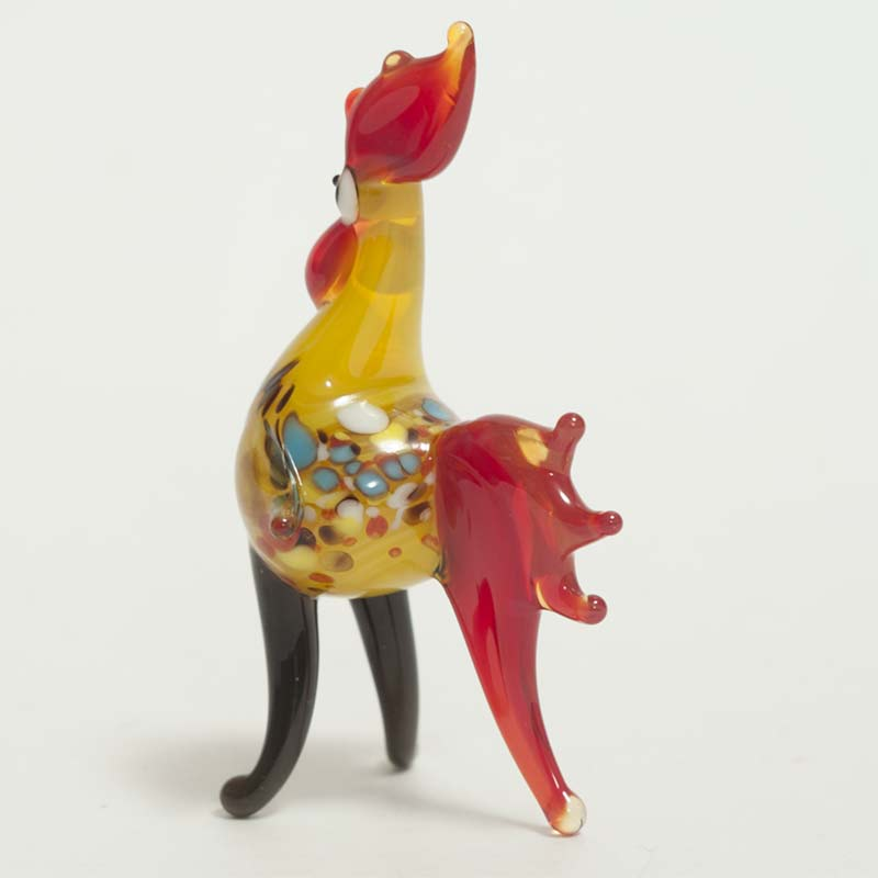 Glass Rooster Figure