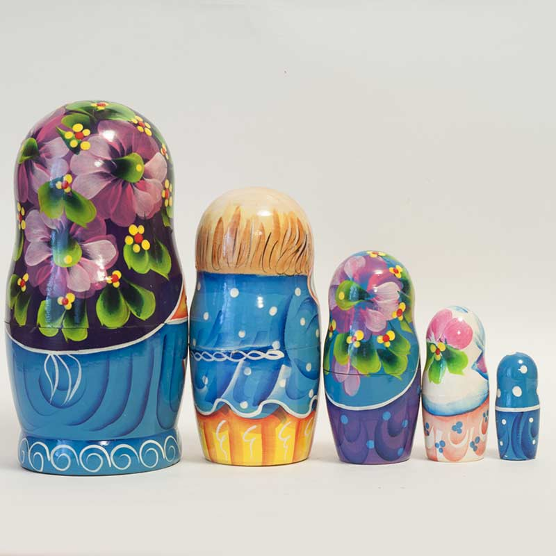 Matryoshka Family with Twins
