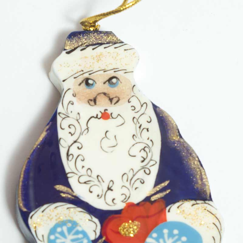 Figurine Santa in Blue