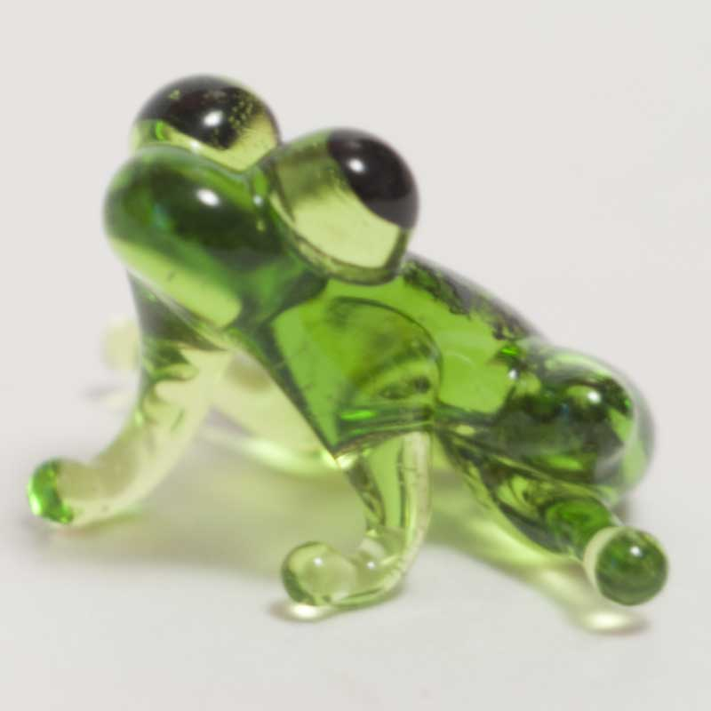Frog Glass Figure