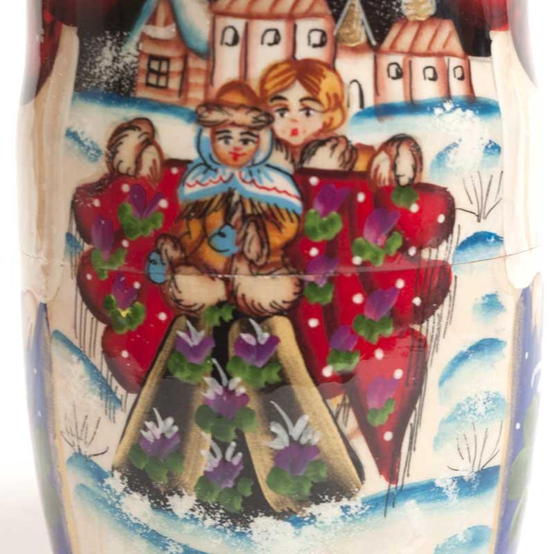 Russian Nesting Doll  Winter Festive Time
