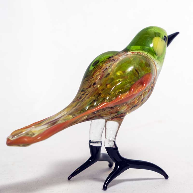 Glass Green Bird