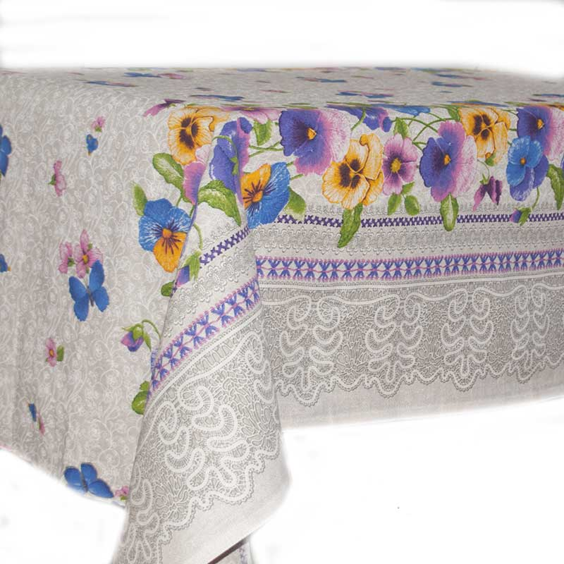 Tablecloth Pansies
