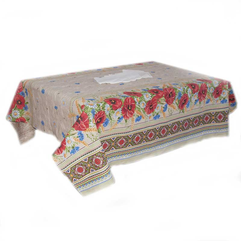 Table Set Bouquet Of Wild Flowers Russian Home Textile Home Decore