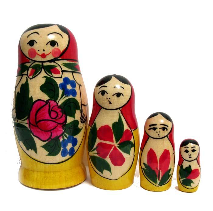 Nested doll Semionovo style, 4 p. set