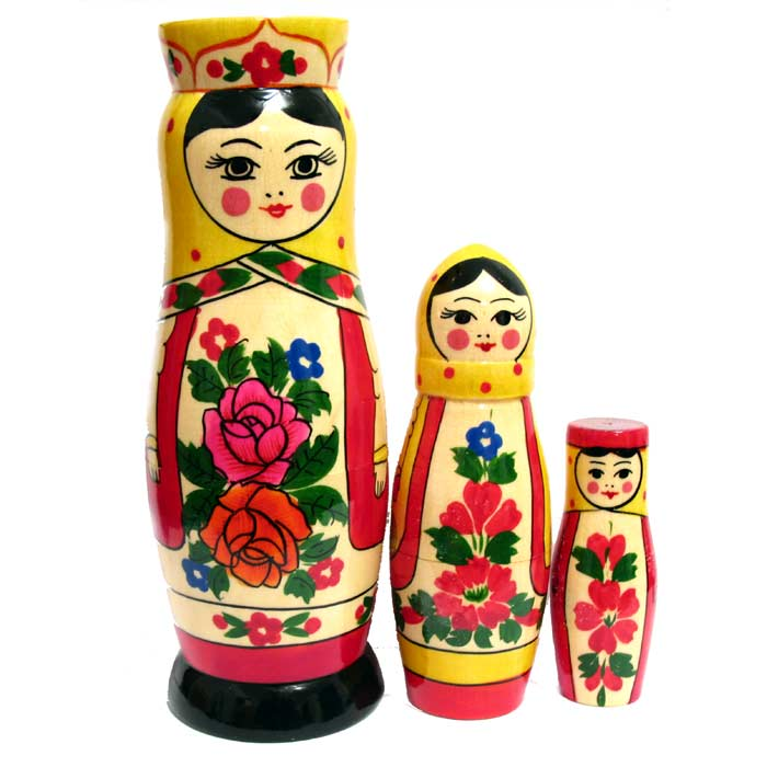 Nesting doll Russian Beauties