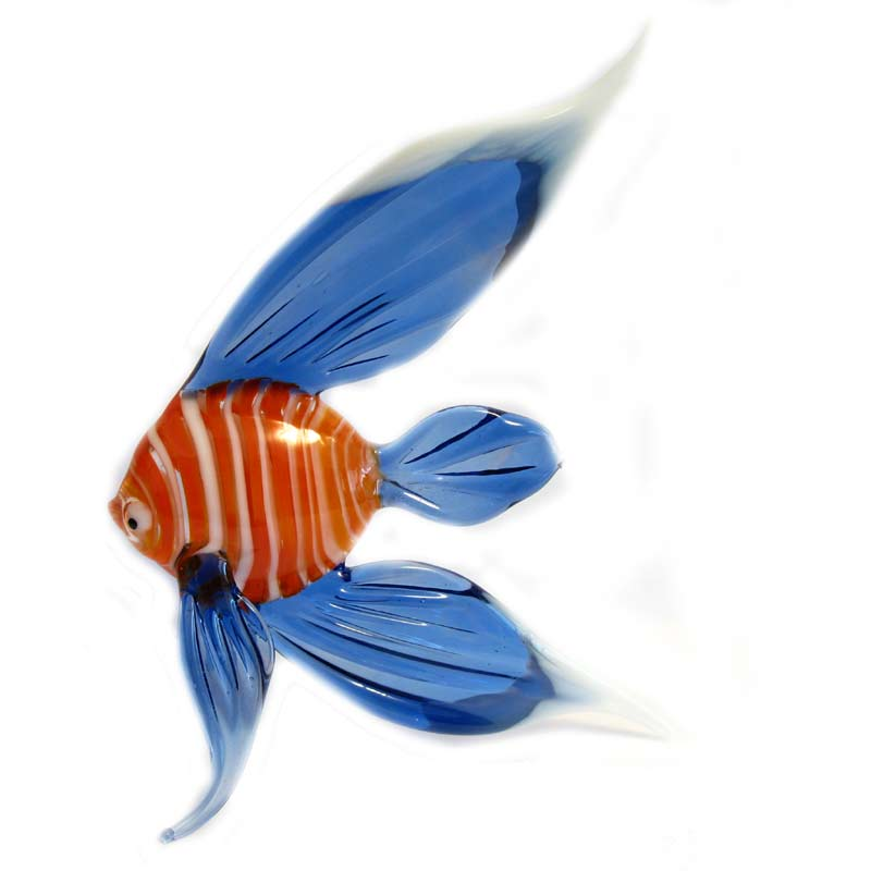 Fish glass figurine