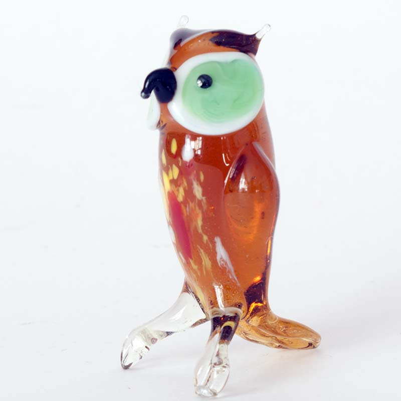 Glass Owl Figure