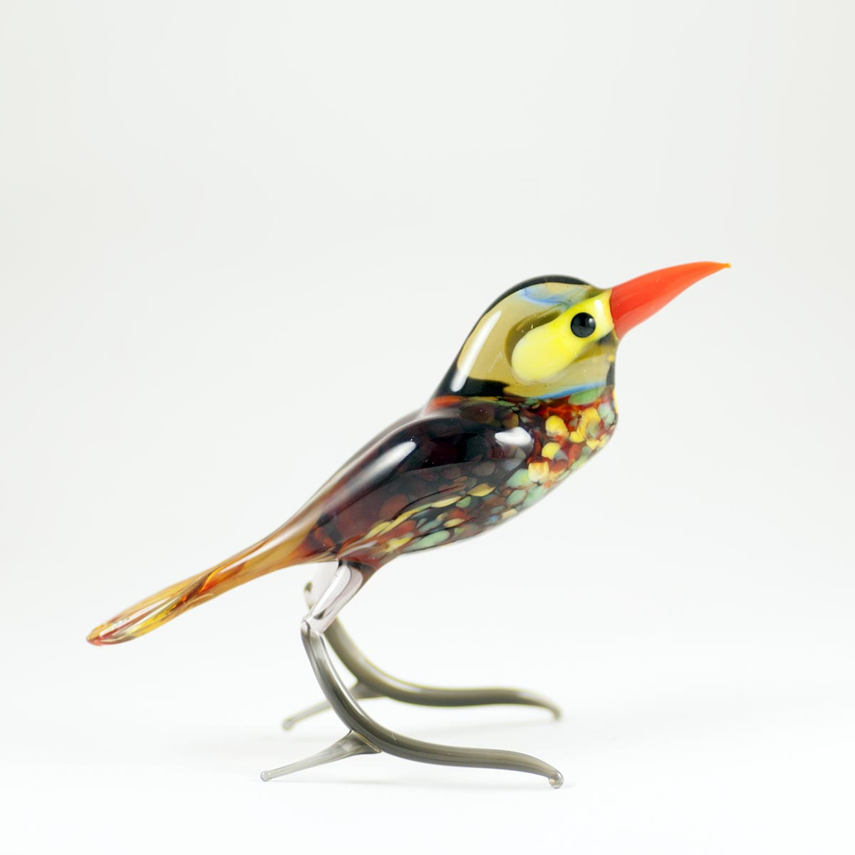 Bird glass figurine