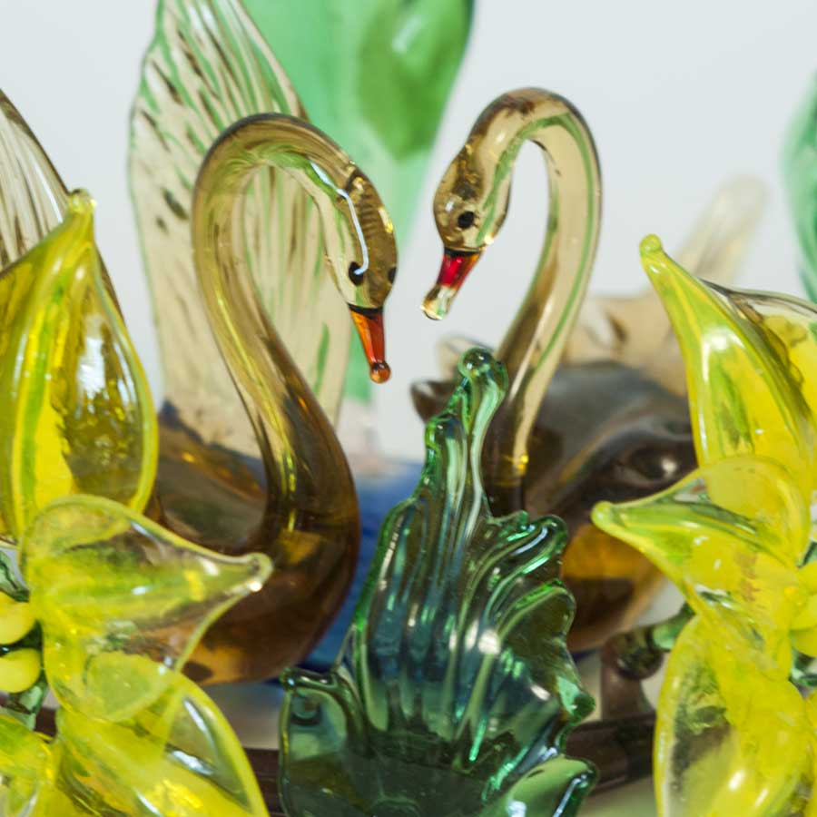 Two Swans Glass Composition