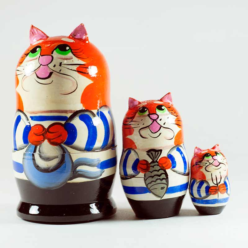 Nesting Doll Cats Sailors