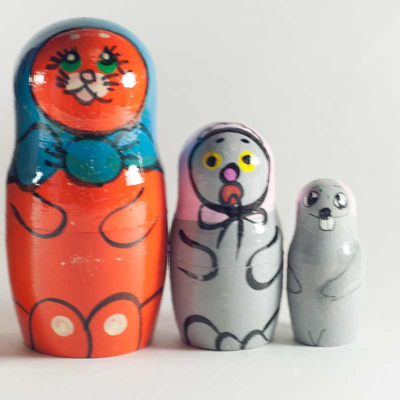Nested Doll Cats and Mice