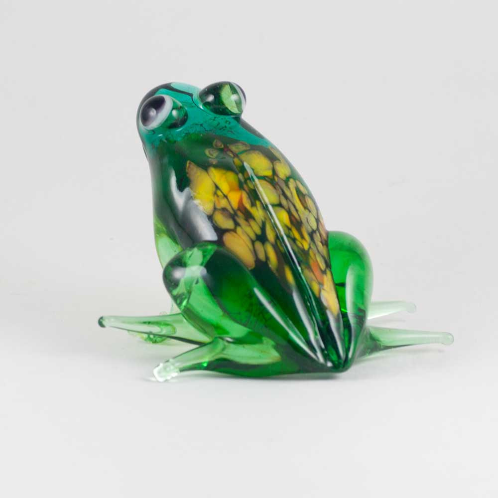 Frog glass figure