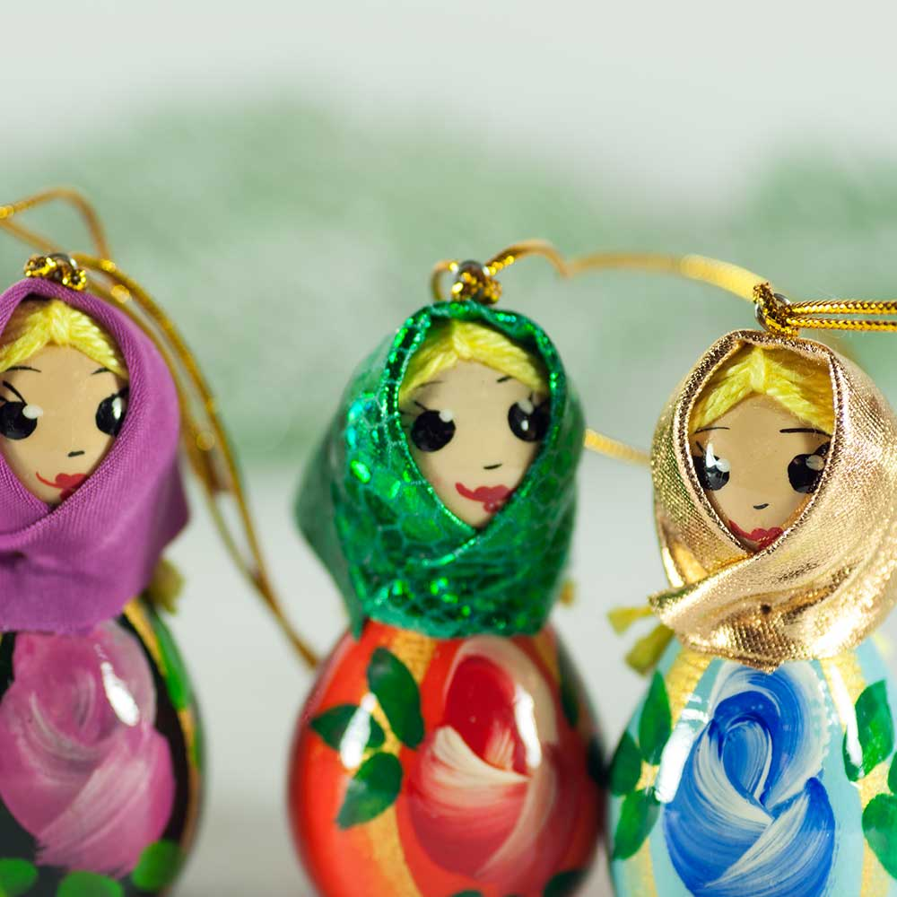 Set of Wood Dolls