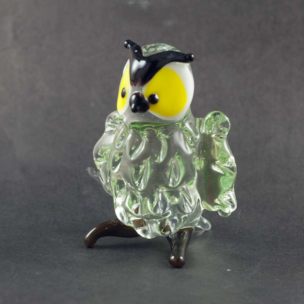 Owl glass figurine