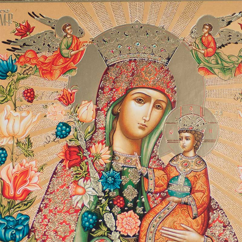 Our Lady Fadeless Blossom Icon
