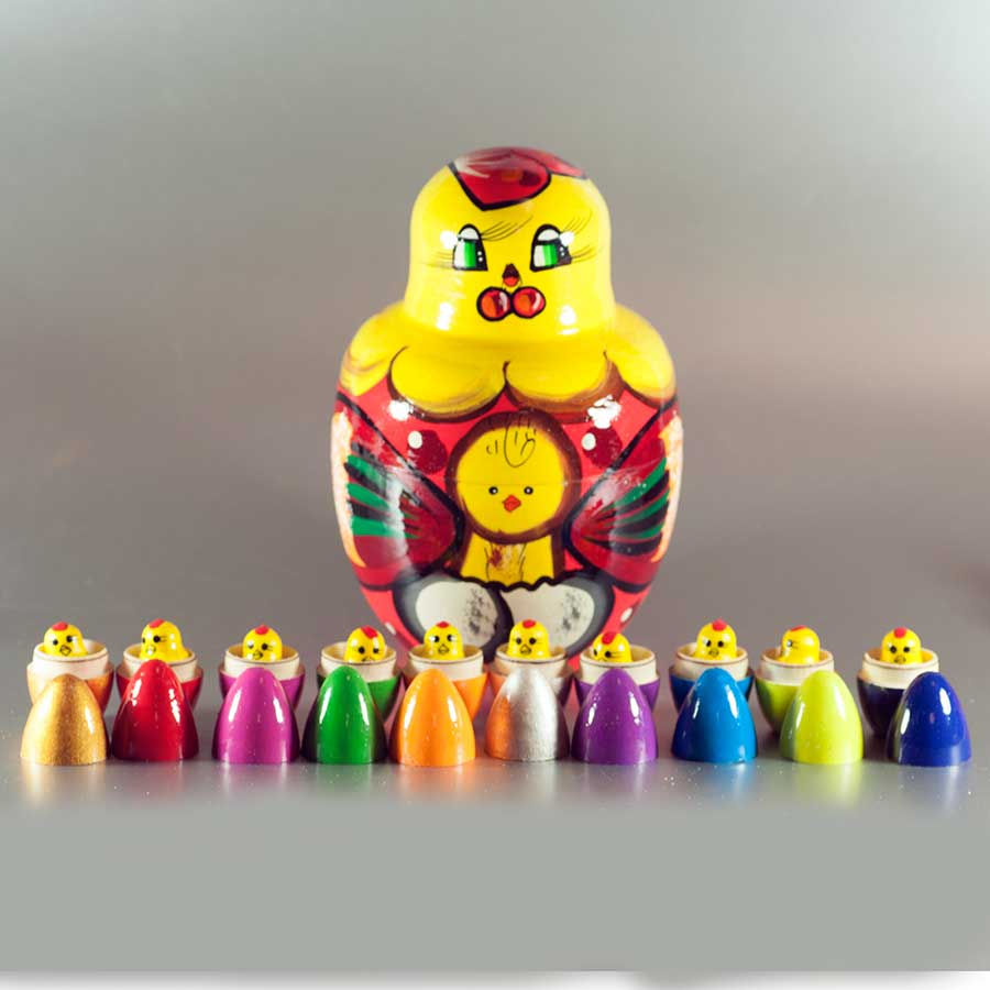 Matryoshka easter gifts hen with ten chickens russian nesting doll 2 easter gifts hen with ten chickens fig negle Choice Image