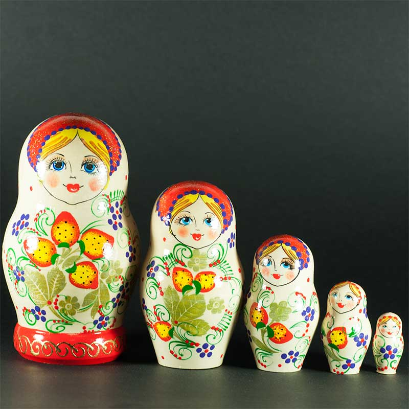 Matryoshka Doll with Strawberries