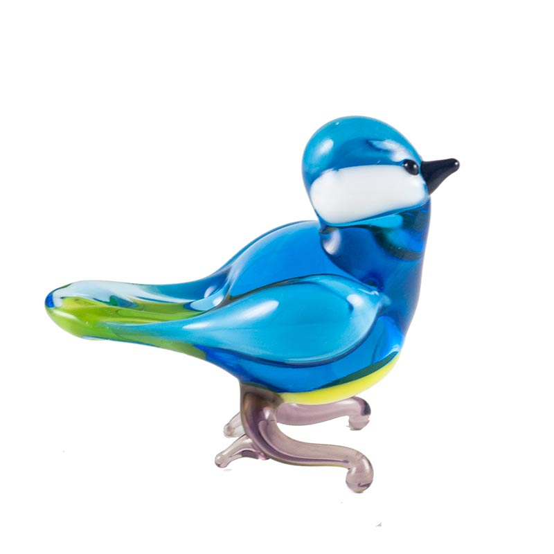 Glass Blue Tit Figurine