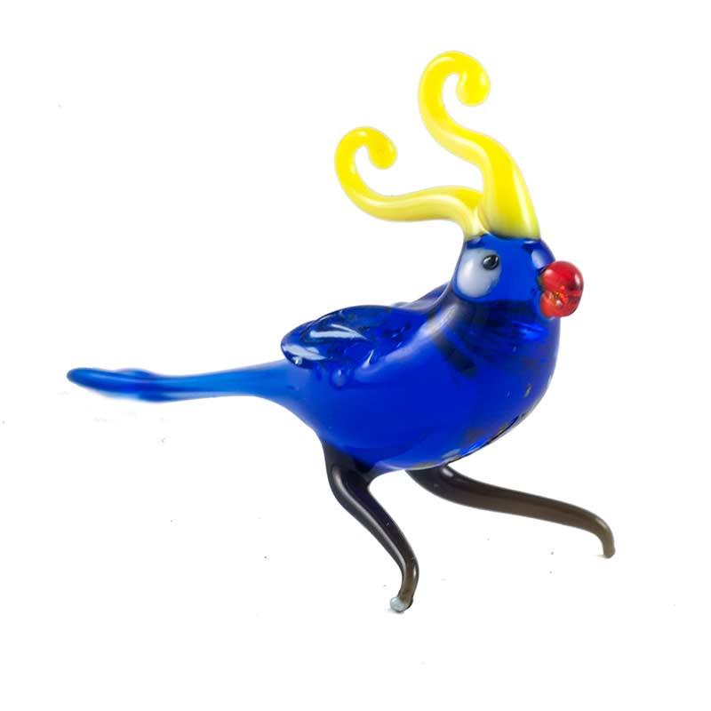 Blue Parrot Figure