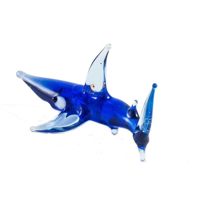 Shark glass figurine