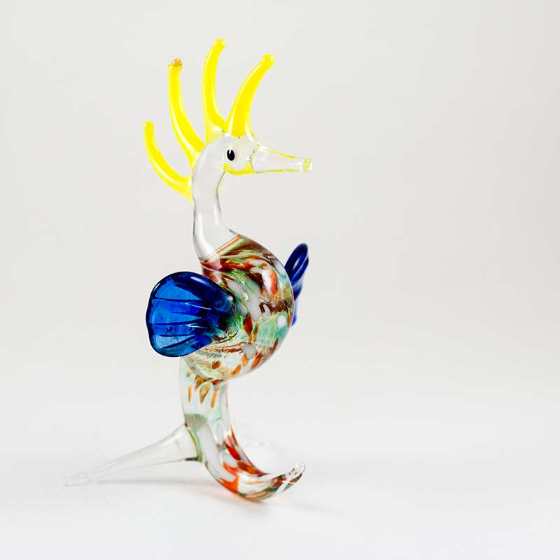 Glass Sea Horse Figure