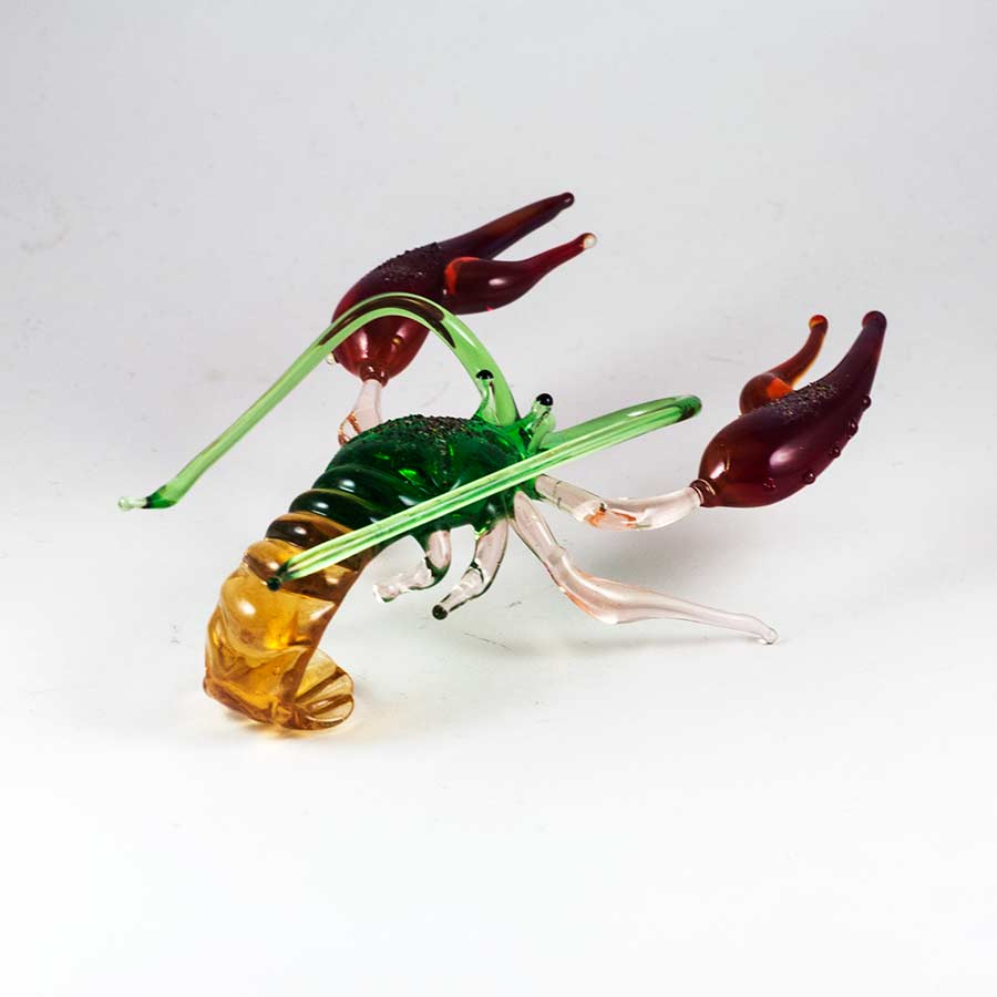Glass Crayfish Figure