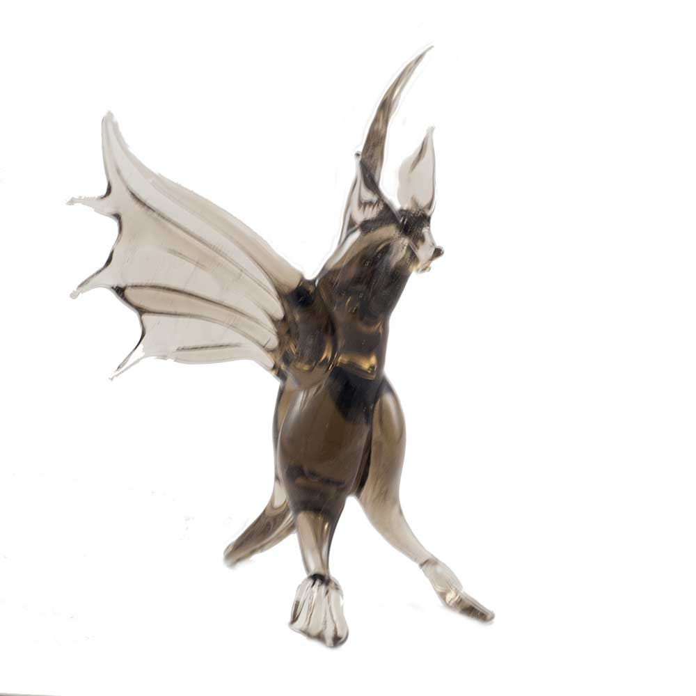 Bat Glass Figurine